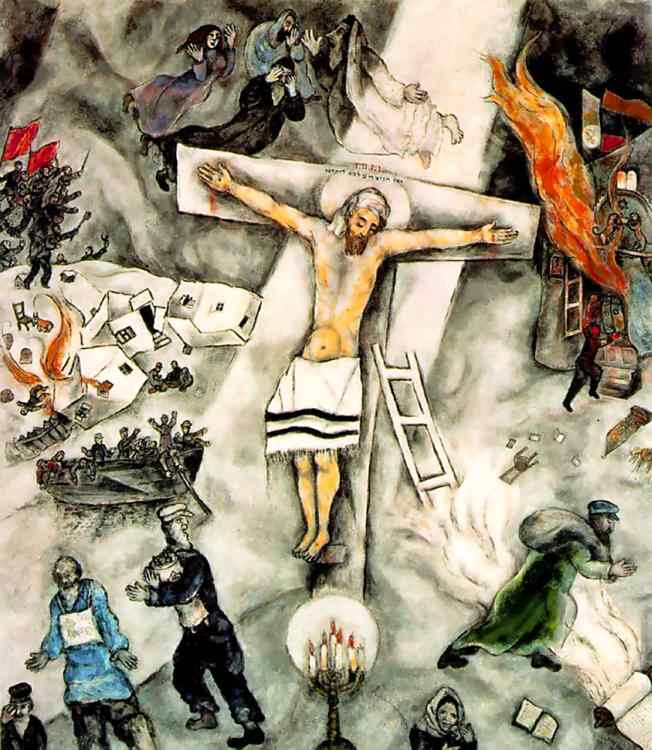 Judeo-Christians Chagall White Crucifixion