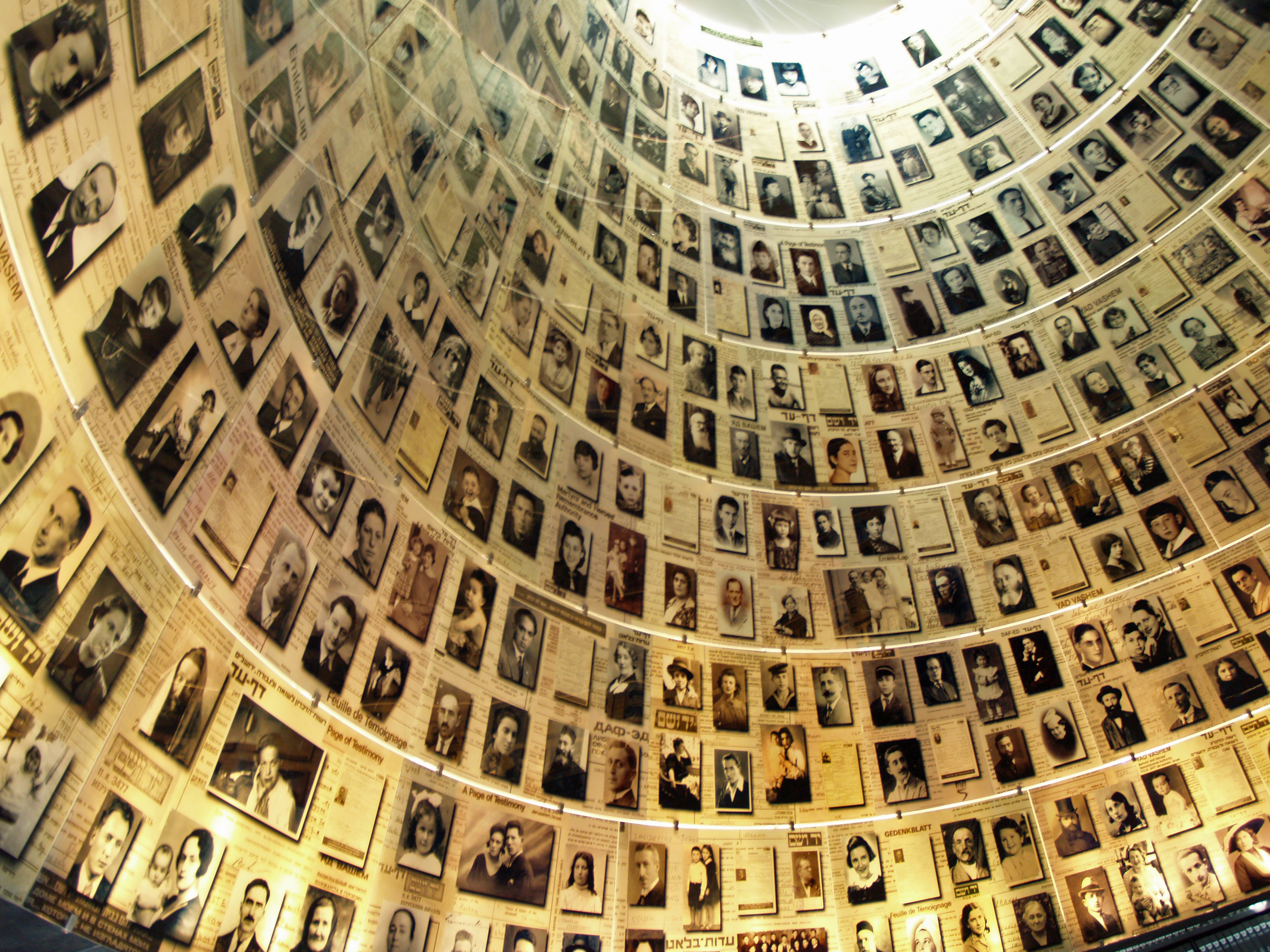 Righteous Gentiles Yad_Vashem_Hall_of_Names_by_David_Shankbone